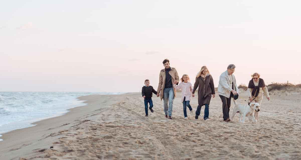 wandeling op het strand