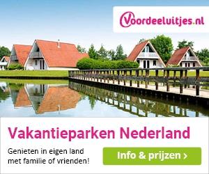voordeeluitjes vakantieparken nederland banner